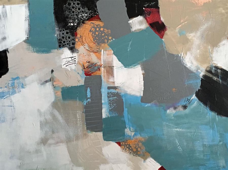 Original art for sale at UGallery.com | SoBro by Brenda Buffett | $1,800 | acrylic painting | 36' h x 48' w | ..\art\acrylic-painting-SoBro