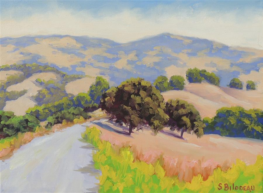 Original art for sale at UGallery.com | Mulholland Ridge Open Space by STEVEN GUY BILODEAU | $550 |  | 12' h x 16' w | ..\art\oil-painting-Mulholland-Ridge-Open-Space