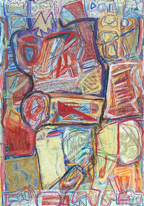 Original art for sale at UGallery.com | Excavation 1 by Andrea Epstein | $1,600 | printmaking | 44' h x 30' w | ..\art\printmaking-Excavation-1