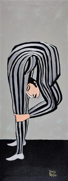 Original art for sale at UGallery.com   Flexible #1 by Diana Rosa   $625   acrylic painting   18' h x 9' w   ..\art\acrylic-painting-Flexible-1