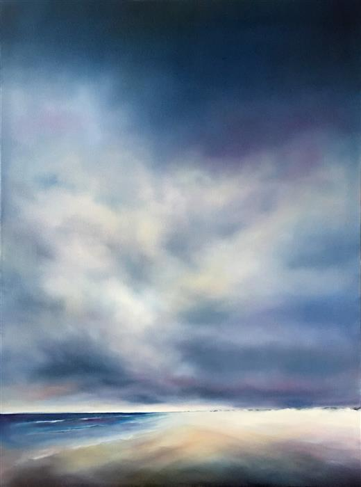 Original art for sale at UGallery.com | Beach Cloud Light by NANCY HUGHES MILLER | $2,100 |  | 40' h x 30' w | ..\art\oil-painting-Beach-Cloud-Light