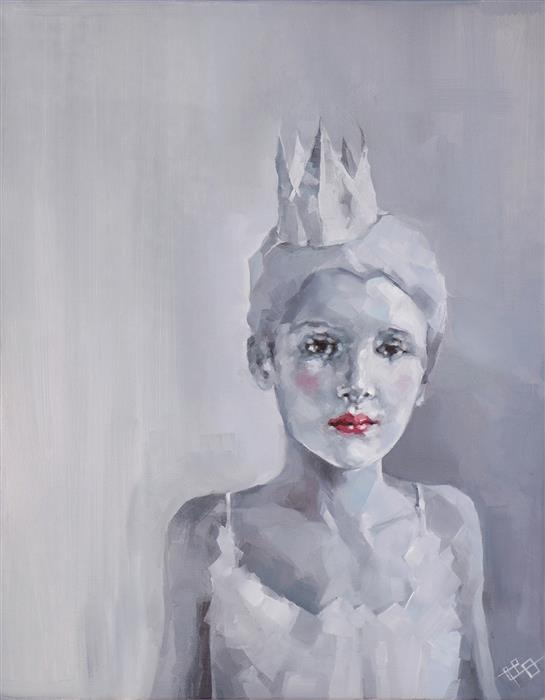 Original art for sale at UGallery.com | Paper Princess by SUZANNA ORLOVA | $1,300 |  | 20' h x 16' w | ..\art\oil-painting-Paper-Princess