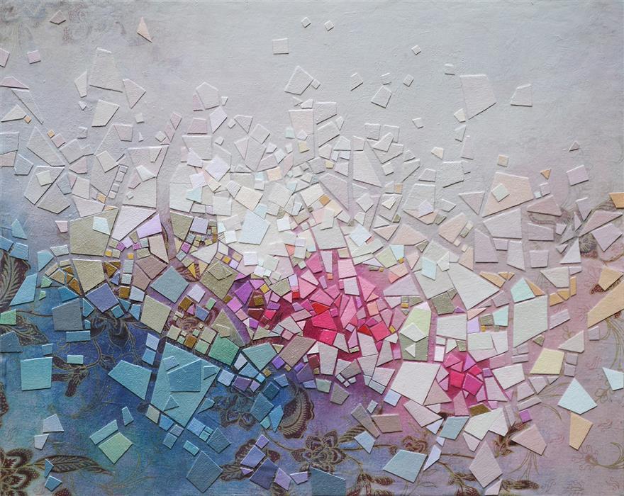 Original art for sale at UGallery.com | Somewhere 2 by Tomo Mori | $2,350 | mixed media artwork | 20' h x 24' w | ..\art\mixed-media-artwork-Somewhere-2
