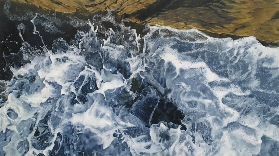 Original art for sale at UGallery.com | Rising Tide by Debbie Daniels | $1,950 | oil painting | 18' h x 32' w | ..\art\oil-painting-Rising-Tide-63937
