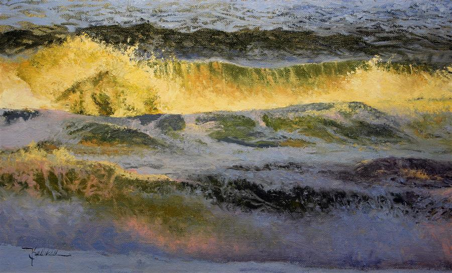 Original art for sale at UGallery.com | Evening Wave by Kent Sullivan | $1,300 | oil painting | 12' h x 20' w | ..\art\oil-painting-Evening-Wave
