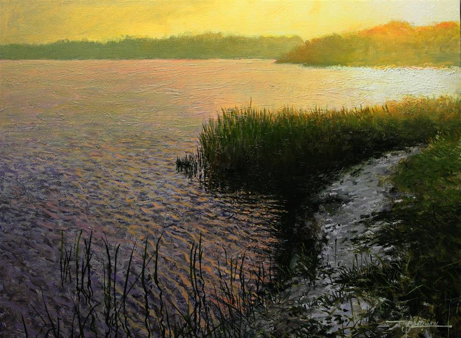 Original art for sale at UGallery.com | Matanzas River by Kent Sullivan | $1,275 | oil painting | 11' h x 14' w | ..\art\oil-painting-Matanzas-River