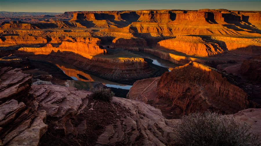 Original art for sale at UGallery.com | Sunrise at Dead Horse Point by Mathew Lodge | $25 | photography | 15' h x 10' w | ..\art\photography-Sunrise-at-Dead-Horse-Point