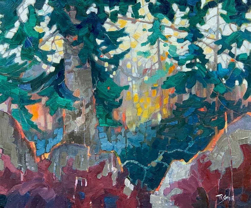 Original art for sale at UGallery.com | Fir by Teresa Smith | $1,100 | oil painting | 20' h x 24' w | ..\art\oil-painting-Fir
