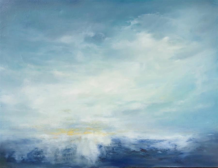 Original art for sale at UGallery.com | It's a New Day by FAITH TAYLOR | $2,400 |  | 30' h x 40' w | ..\art\oil-painting-It-s-a-New-Day-64072