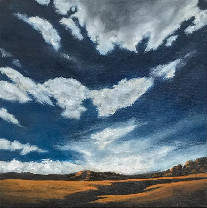 Original art for sale at UGallery.com | Silver Lining VII by Mandy Main | $525 | oil painting | 12' h x 12' w | ..\art\oil-painting-Silver-Lining-VII