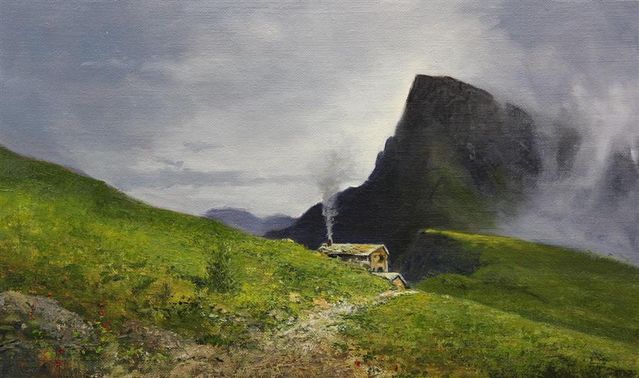 Original art for sale at UGallery.com | Weathertop by Kent Sullivan | $1,050 | oil painting | 12' h x 20' w | ..\art\oil-painting-Weathertop