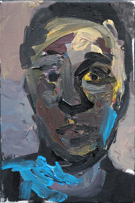 Original art for sale at UGallery.com | Head III by Slawomir Milewski | $550 | acrylic painting | 11.8' h x 7.8' w | ..\art\acrylic-painting-Head-III