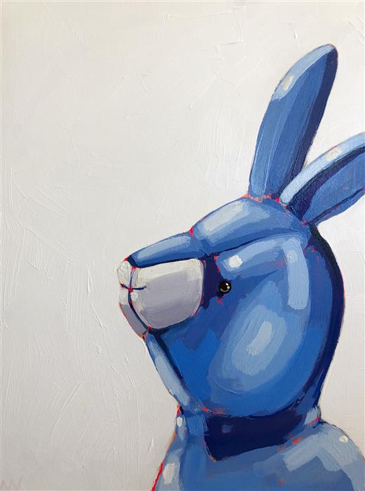Original art for sale at UGallery.com | Rabbit Rabbit by Nicole Newsted | $1,800 | acrylic painting | 24' h x 18' w | ..\art\acrylic-painting-Rabbit-Rabbit