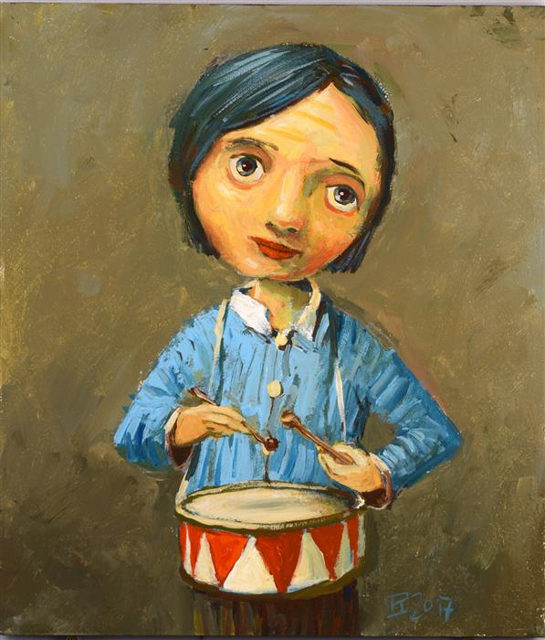 Original art for sale at UGallery.com | Little Drummer by Krzysztof Iwin | $1,550 | acrylic painting | 12' h x 11' w | ..\art\acrylic-painting-Little-Drummer