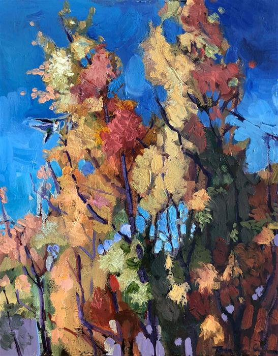 Original art for sale at UGallery.com | Bosque Autumn by Tara Zalewsky-Nease | $700 | oil painting | 20' h x 16' w | ..\art\oil-painting-Bosque-Autumn
