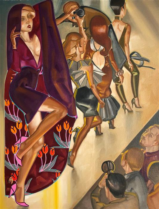 Original art for sale at UGallery.com | Jeunes Filles en Fleurs by Anne-François de Sérilly | $2,350 | oil painting | 25' h x 19.5' w | ..\art\oil-painting-Jeunes-Filles-en-Fleurs
