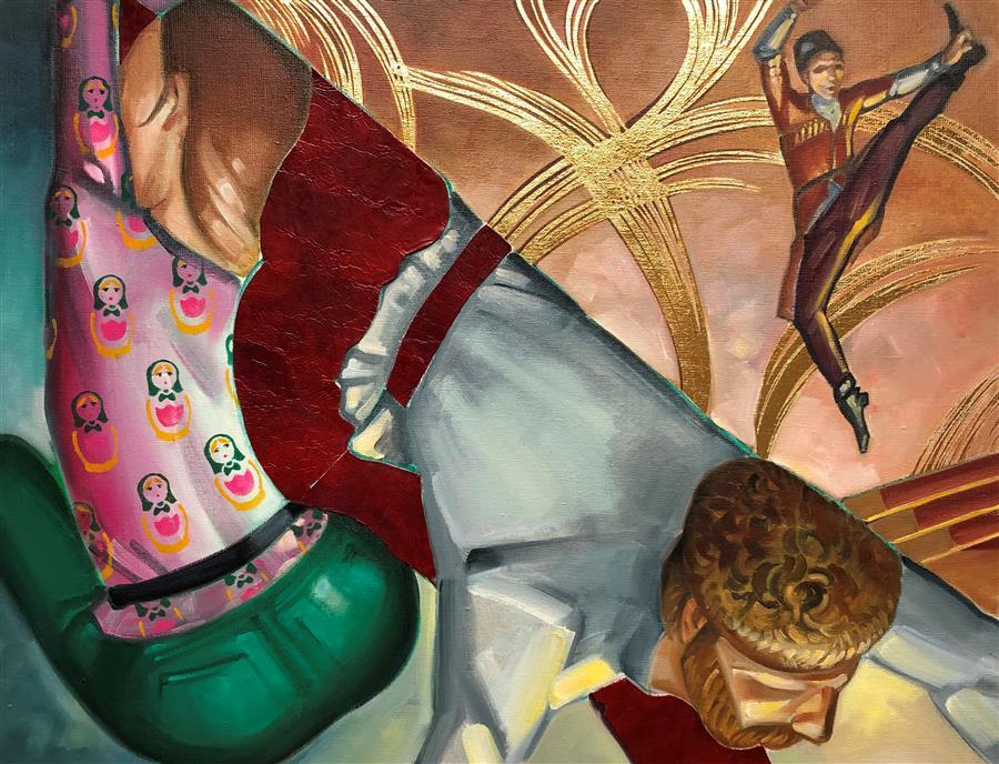 Original art for sale at UGallery.com | Danse Russe by Anne-François de Sérilly | $3,200 | oil painting | 35' h x 45.5' w | ..\art\oil-painting-Danse-Russe