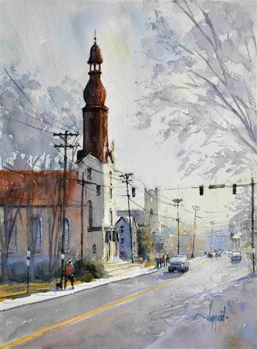 Original art for sale at UGallery.com | St Mary's by JUDY MUDD | $775 |  | 16' h x 12' w | ..\art\watercolor-painting-St-Mary-s