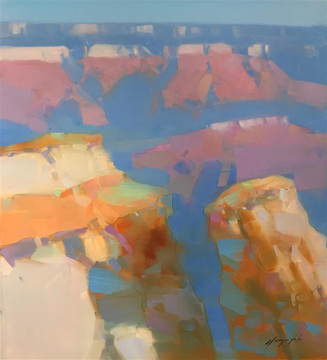 Original art for sale at UGallery.com | Grand Canyon by Vahe Yeremyan | $1,400 | oil painting | 30' h x 27' w | ..\art\oil-painting-Grand-Canyon-64298
