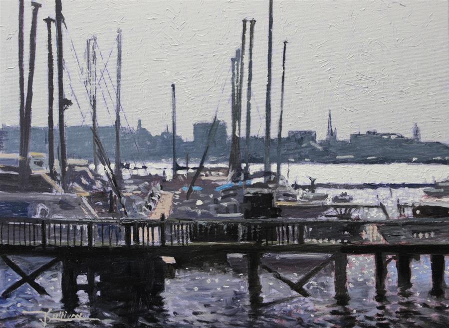 Original art for sale at UGallery.com | Charleston by Kent Sullivan | $775 | oil painting | 9' h x 12' w | ..\art\oil-painting-Charleston