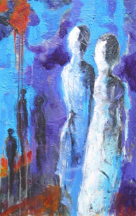 Original art for sale at UGallery.com | Dusk on the Windswept Plain by Ron Klotchman | $1,700 | acrylic painting | 36' h x 24' w | ..\art\acrylic-painting-Dusk-on-the-Windswept-Plain