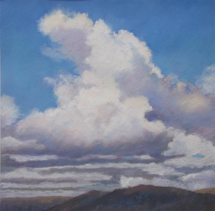 Original art for sale at UGallery.com | Cloudscape by Patricia Prendergast | $450 | pastel artwork | 12' h x 12' w | ..\art\pastel-artwork-Cloudscape