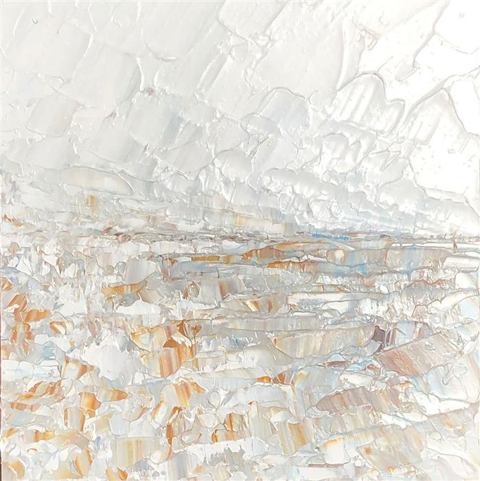 Original art for sale at UGallery.com | Snow on Skinny Pines by Ruth LaGue | $325 | acrylic painting | 8' h x 8' w | ..\art\acrylic-painting-Snow-on-Skinny-Pines