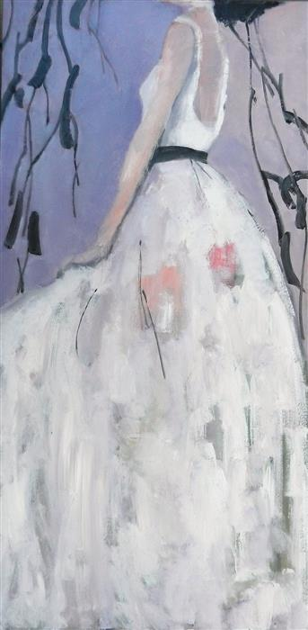 Original art for sale at UGallery.com | The Dress by Mary Pratt | $2,775 | oil painting | 48' h x 24' w | ..\art\oil-painting-The-Dress