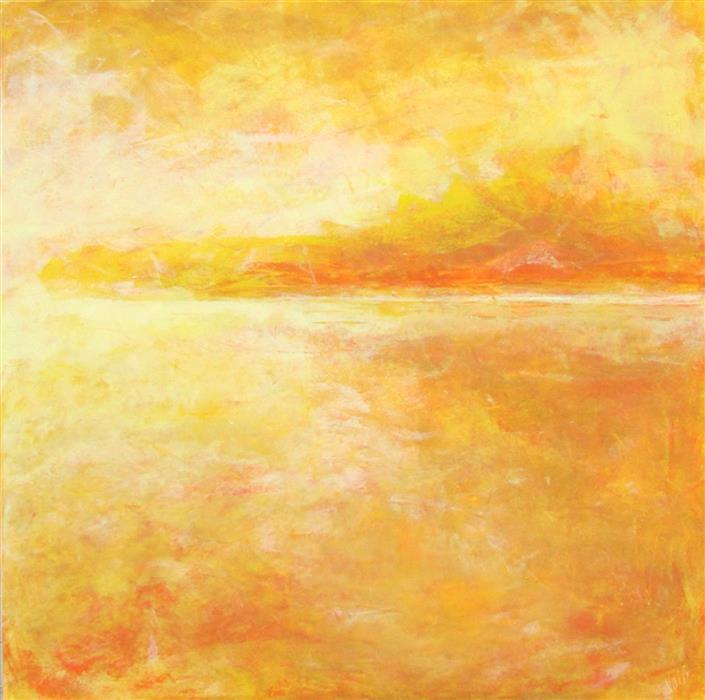 Original art for sale at UGallery.com | Yellow by Valerie Berkely | $950 | oil painting | 24' h x 24' w | ..\art\oil-painting-Yellow-64389
