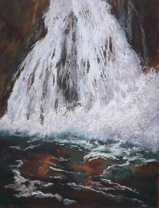 Original art for sale at UGallery.com | Splash by Patricia Prendergast | $750 | pastel artwork | 18' h x 14' w | ..\art\pastel-artwork-Splash