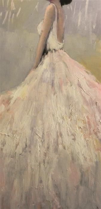 Original art for sale at UGallery.com | Flutter by Mary Pratt | $2,575 | oil painting | 48' h x 24' w | ..\art\oil-painting-Flutter
