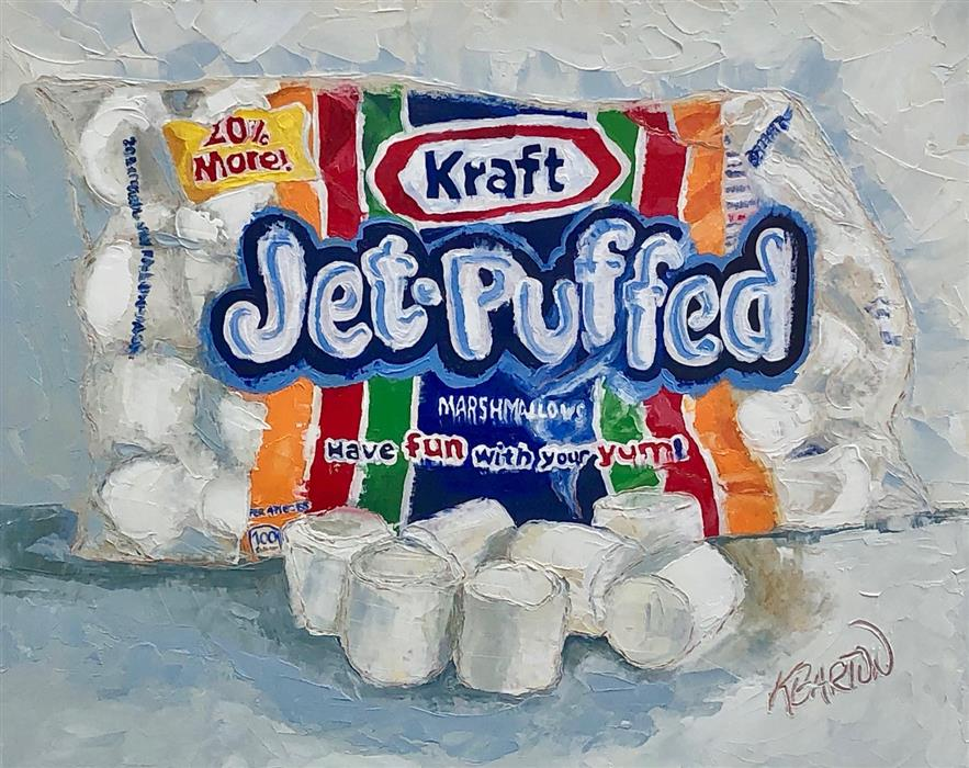 Original art for sale at UGallery.com | Jet-Puffed by Karen Barton | $425 | oil painting | 8' h x 10' w | ..\art\oil-painting-Jet-Puffed