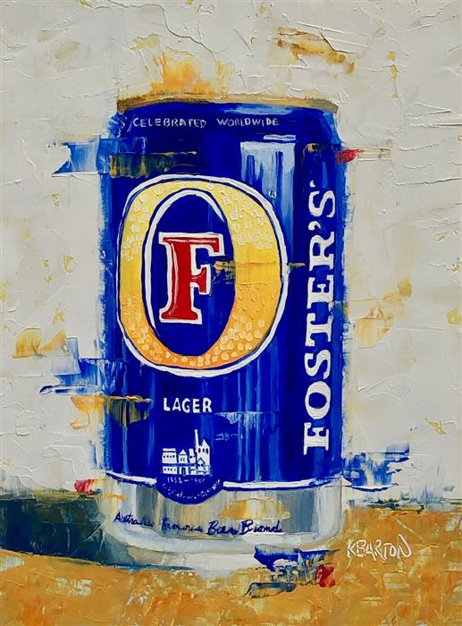 Original art for sale at UGallery.com | FOSTER'S by Karen Barton | $325 | oil painting | 8' h x 6' w | ..\art\oil-painting-FOSTER-S