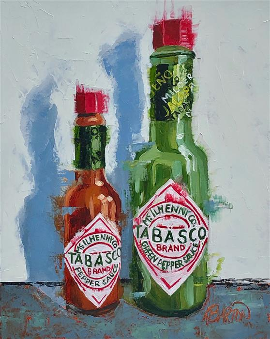 Original art for sale at UGallery.com | Tabasco x 2 by Karen Barton | $425 | oil painting | 10' h x 8' w | ..\art\oil-painting-Tabasco-x-2