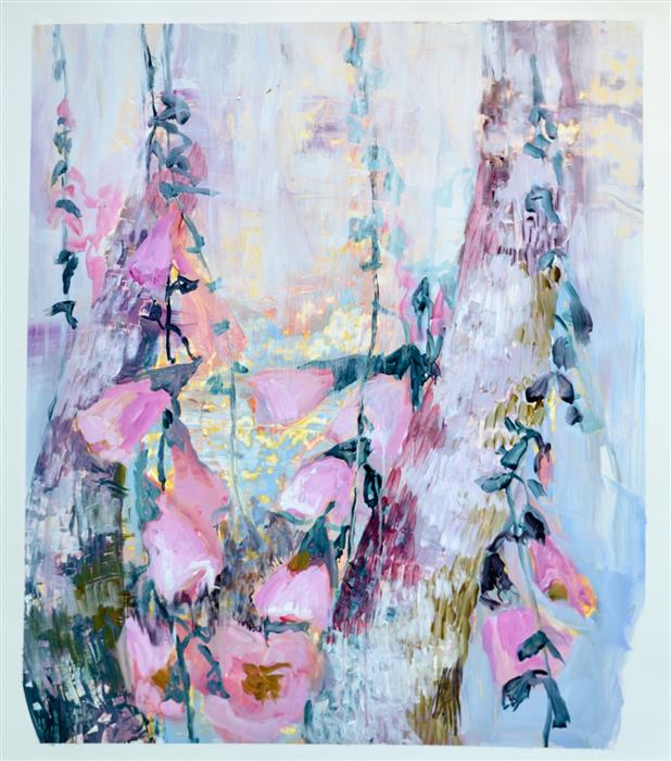 Original art for sale at UGallery.com | Go Gentle by Julia Hacker | $950 | acrylic painting | 31' h x 27' w | ..\art\acrylic-painting-Go-Gentle