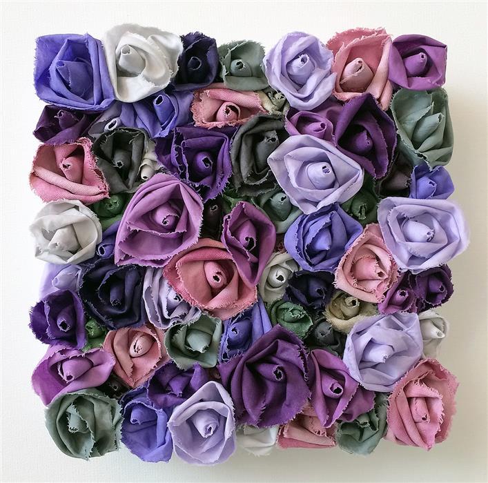 Original art for sale at UGallery.com | Lavender Garden by Andrea Cook | $475 | fiber artwork | 10' h x 10' w | ..\art\fiber-artwork-Lavender-Garden