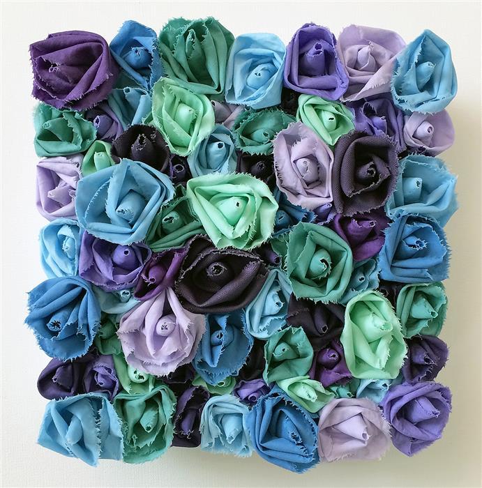 Original art for sale at UGallery.com | Lavender Sky by Andrea Cook | $475 | fiber artwork | 10' h x 10' w | ..\art\fiber-artwork-Lavender-Sky