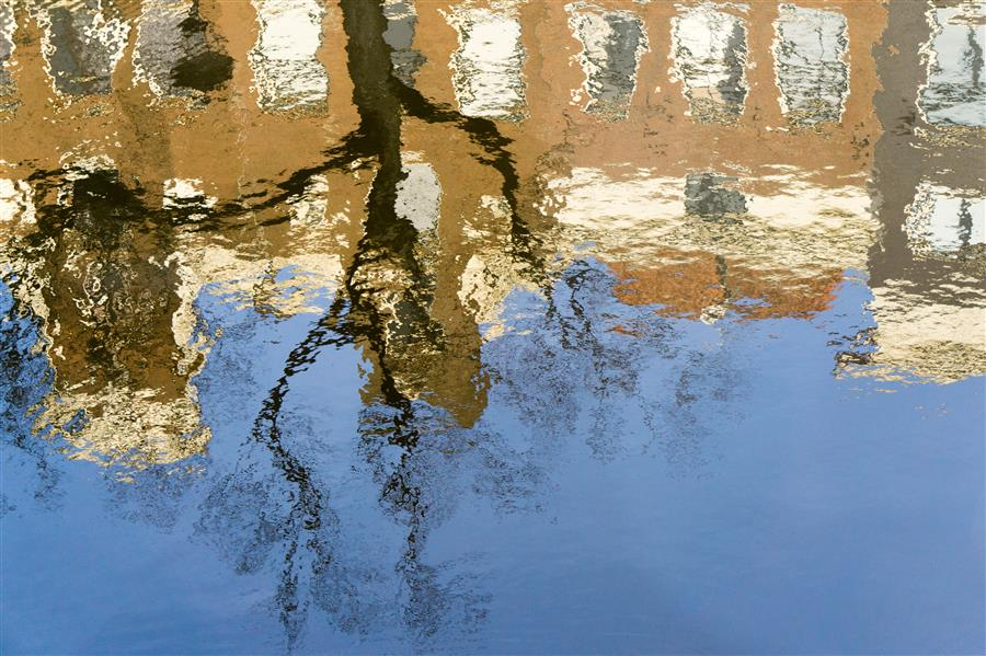Original art for sale at UGallery.com | Reguliersgracht Reflections by Kimberly Poppe | $50 | photography | 24' h x 16' w | ..\art\photography-Reguliersgracht-Reflections