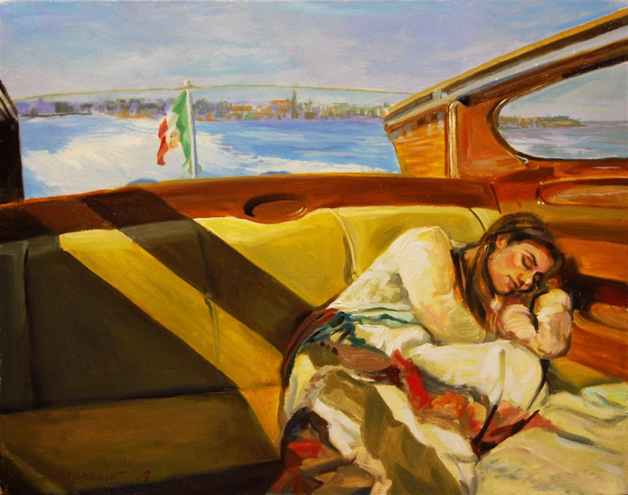 Original art for sale at UGallery.com | Leaving Venice by ONELIO MARRERO | $850 |  | 14' h x 18' w | ..\art\oil-painting-Leaving-Venice