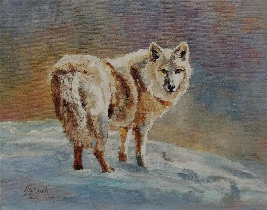 Original art for sale at UGallery.com | Snow Blonde by Jan Fontecchio Perley | $975 | oil painting | 11' h x 14' w | ..\art\oil-painting-Snow-Blonde