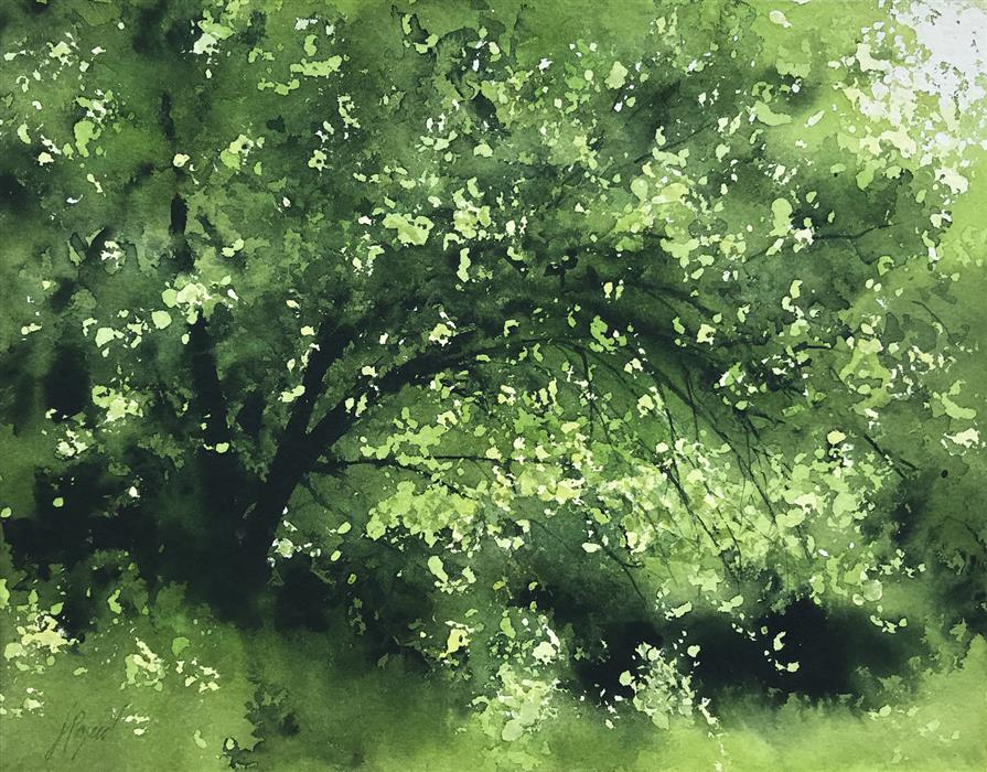 Original art for sale at UGallery.com | Spring by Jill Poyerd | $625 | watercolor painting | 11' h x 14' w | ..\art\watercolor-painting-Spring
