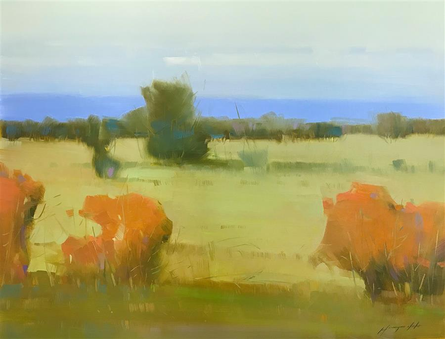Original art for sale at UGallery.com | Meadow by Vahe Yeremyan | $1,500 | oil painting | 27.5' h x 36' w | ..\art\oil-painting-Meadow-64738