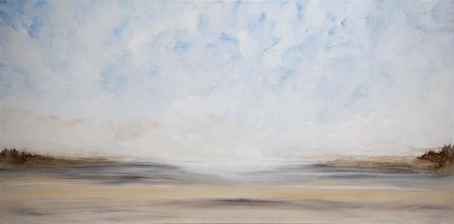 Original art for sale at UGallery.com | The Air I Breathe by Jenn Williamson | $4,250 | acrylic painting | 36' h x 72' w | ..\art\acrylic-painting-The-Air-I-Breathe