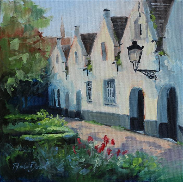 Original art for sale at UGallery.com | Beguinage by Rachel Dowd | $250 | oil painting | 8' h x 8' w | ..\art\oil-painting-Beguinage