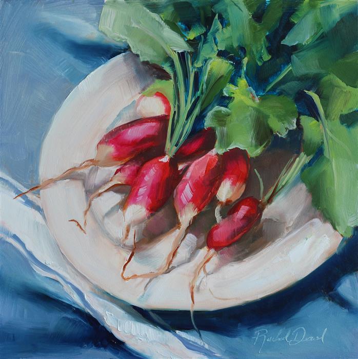 Original art for sale at UGallery.com | Garden Fresh by Rachel Dowd | $250 | oil painting | 8' h x 8' w | ..\art\oil-painting-Garden-Fresh