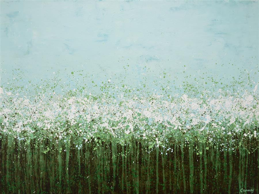 Original art for sale at UGallery.com | Tall Grasses by Lisa Carney | $2,650 | acrylic painting | 36' h x 48' w | ..\art\acrylic-painting-Tall-Grasses
