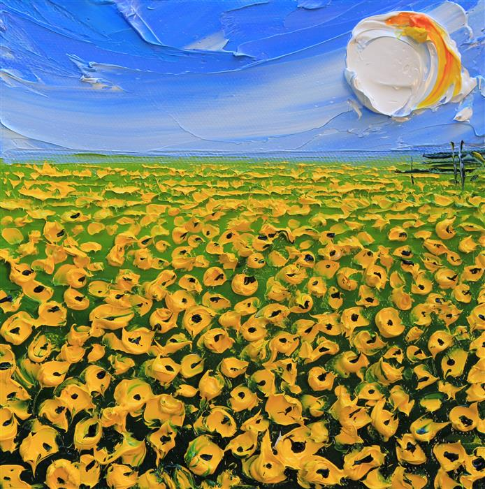 Original art for sale at UGallery.com | My Field of Dreams by Lisa Elley | $475 | oil painting | 8' h x 8' w | ..\art\oil-painting-My-Field-of-Dreams