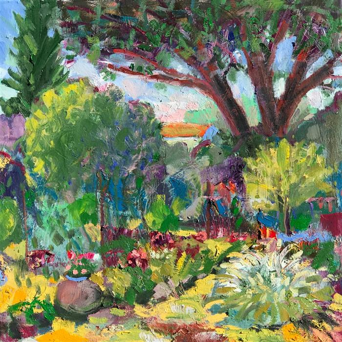 Original art for sale at UGallery.com | Garden Path by James Hartman | $2,000 | oil painting | 30' h x 30' w | ..\art\oil-painting-Garden-Path