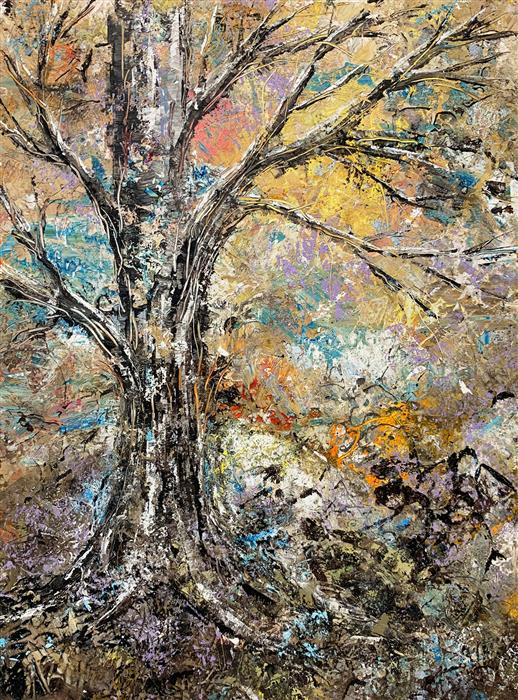 Original art for sale at UGallery.com | Wise One by STEPHANIE THWAITES | $625 |  | 16' h x 12' w | ..\art\oil-painting-Wise-One