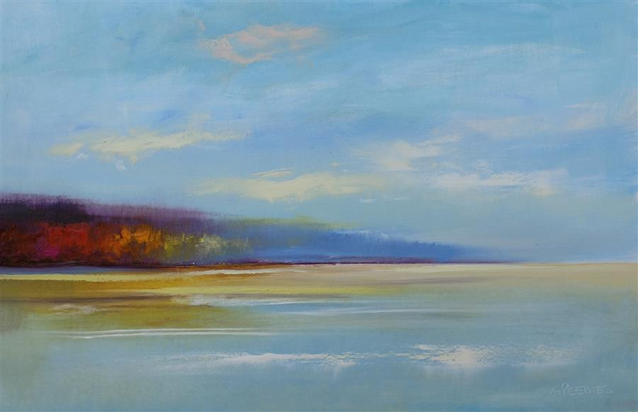 Original art for sale at UGallery.com | The Peninsula by George Peebles | $1,375 | oil painting | 24' h x 36' w | ..\art\oil-painting-The-Peninsula